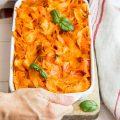 Pappardelle al forno al pomodoro e mascarpone