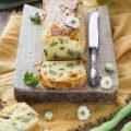 Plumcake salato con fave e pecorino